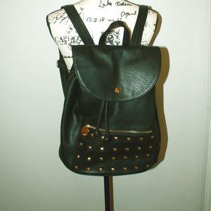 Black Deux Lux Studded Backpack Purse